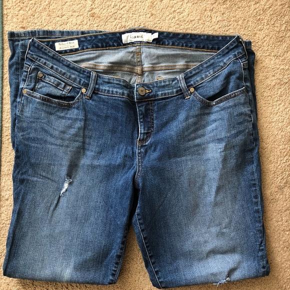 torrid Denim - torrid Relax Boot Distressed Jeans